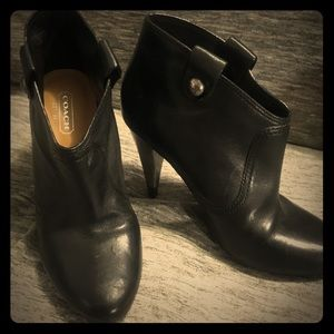 Coach Leather Booties - 5